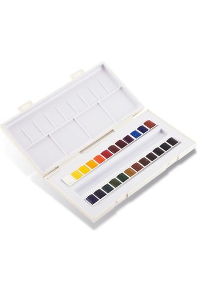 Sennelier Sennelier Aquarelle 24 Renk Suluboya Set - Fırça Hediyeli