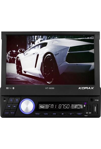 """Korax Ht-9099 7""""Bluetoothlu Radyolu Navigasyon Usb Oto Teyp"""