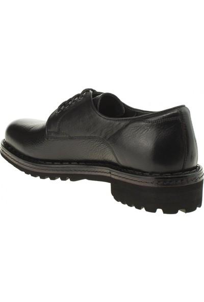 Tigra 18Y894 Oxford Bağlı Deri Siyah Erkek Ayakkabı