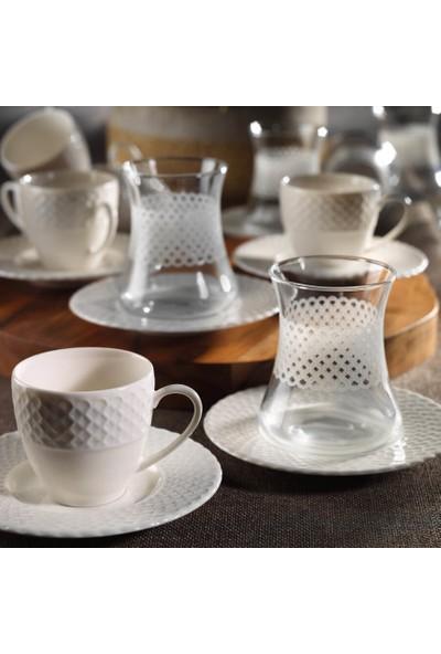 Kütahya Porselen İron Çay & Kahve Takımı