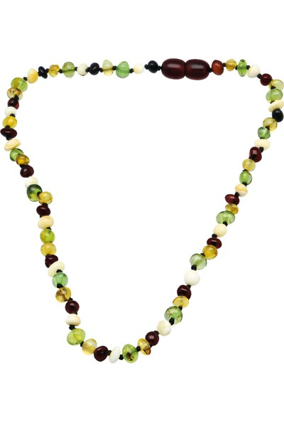 Chavin Doğal Kehribar Kız Erkek Çocuk Bebek Diş Kolyesi Du92
