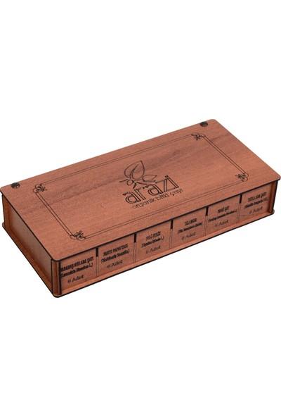 Arazi Organik Ağaç Kutu 6X6 Karışık Bitki Çayı