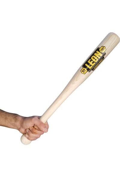 Leon Ahşap Beyzbol Sopası 61 cm Dişbudak Ağacından Natural