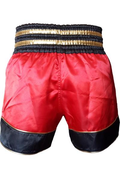 Leon Gold Star Muay Thai ve Kick Boks Şortu Kırmızı BYL1003