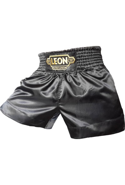 Leon Ground Kick Boks ve Muay Thai Şortu Siyah BYL1006