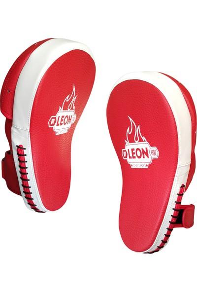 Leon Master Profesyonel Kick Boks ve Muay Thai El Lapası BYL5009 Kırmızı Beyaz