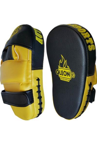 Leon Ramon Profesyonel Kick Boks ve Muay Thai El Lapası BYL4002 Siyah Sarı