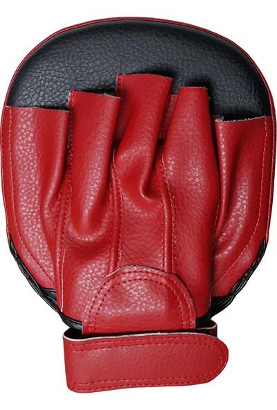 Leon Wall Parmaklı Ellik Lapa Taekwondo ve Boks Lapası BYL5007 Siyah Kırmızı