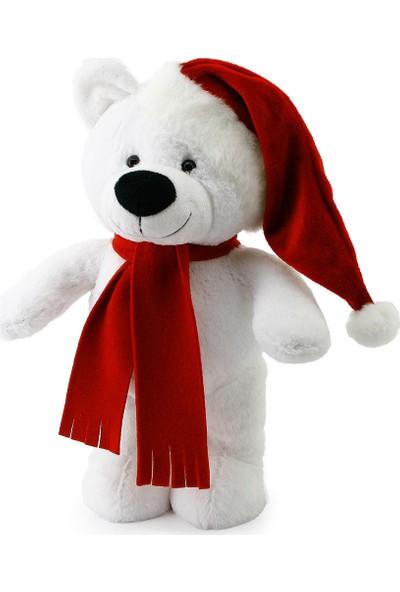 Neco Plush Yılbaşı Özel Noel Ayı 40 cm Beyaz