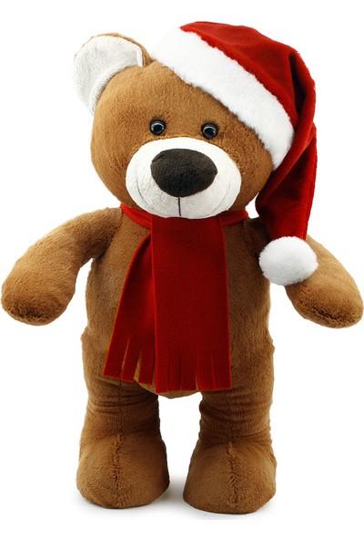 Neco Plush Yılbaşı Özel Noel Ayı 55 cm Kahverengi