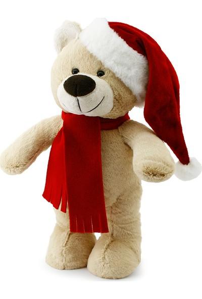 Neco Plush Yılbaşı Özel Noel Ayı 40 cm Krem