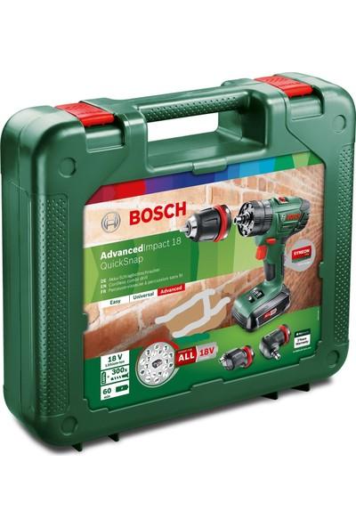 Bosch Advancedimpact 18 Qick Snap Akülü Matkap Vidalama