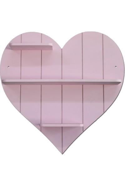 Ahşap Kapısı Dekoratif Ahşap Kalp Raf
