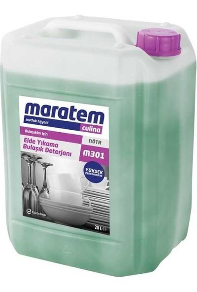 Maratem M301 Elde Yıkama Bulaşık Deterjanı Yüksek Performanslı 5 lt