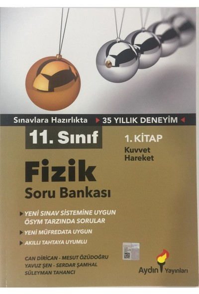 Aydın Yayınları 11.Sınıf Fizik Soru Bankası (1.Kitap)