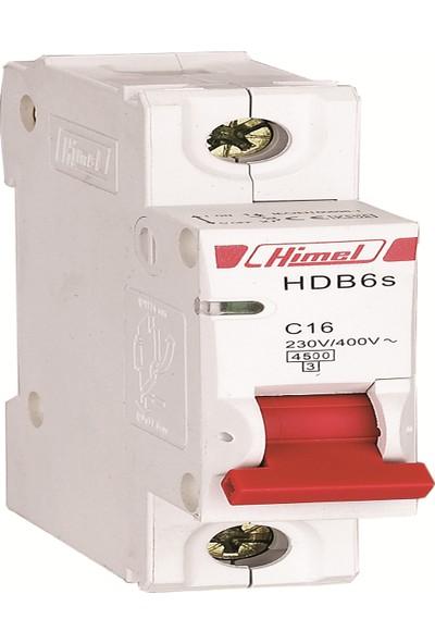 Himel Hdb6Sl1C2 - 1X2A C Tipi 4,5 Ka Otomatik Sigorta Tse
