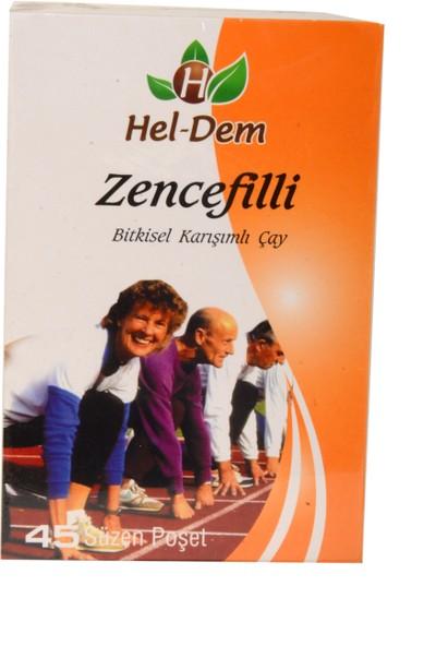 Hel-Dem Zencefilli 45 Süzen Poşet Çay