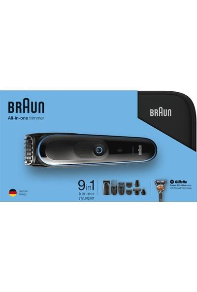 Braun MGK3980 Çoklu Bakım Kiti Siyah/Mavi - Saç ve Sakal Şekillendirme Için Dokuzu Bir Arada Hassas Şekillendirici + 9 in 1 Özel Tasarım Sert Taşıma Çantası