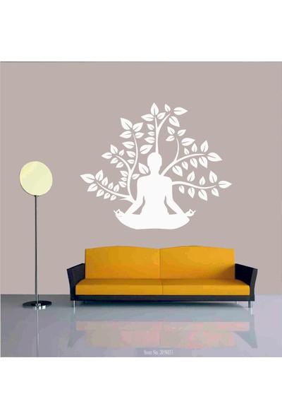 Başaran Sticker Yoga Yapan Kadın Duvar Sticker