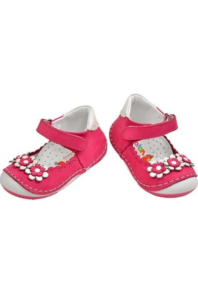 Kaptan Junior İlk Adım Ortopedik Kız Bebek Çocuk Ayakkabısı İtdk 406 Beyaz