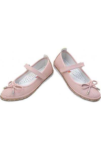 Kaptan Junior Kız Çocuk Abiye Babet Spor Okul Açık Ayakkabısı Psnk 400 Pudra