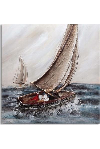 Arte Casero Yelkenli Yağlı Boya Kanvas Tablo 50x50 cm