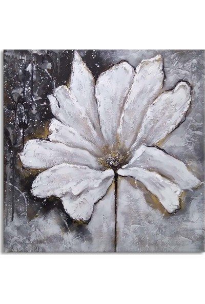 Arte Casero Çiçek Yağlı Boya Kanvas Tablo 50x50 cm