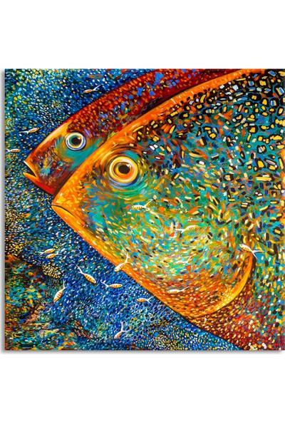 Arte Casero Balık Yağlı Boya Kanvas Tablo 80x80 cm