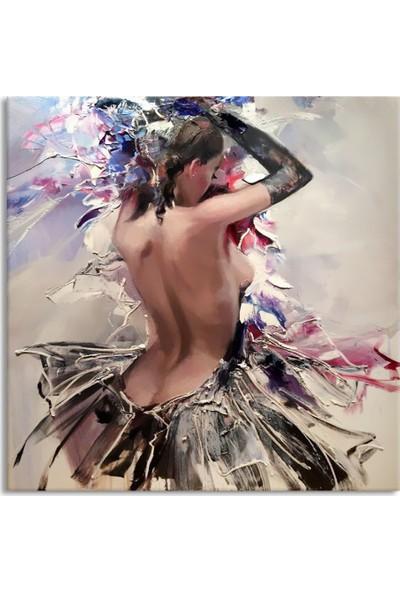 Arte Casero Kadın Yağlı Boya Kanvas Tablo 50x50 cm