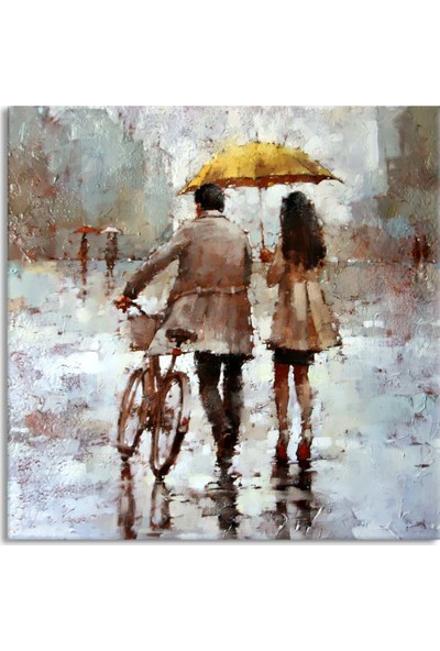 Arte Casero Yağmur Yağlı Boya Kanvas Tablo 50x50 cm