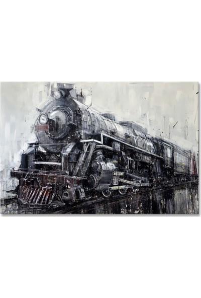 Arte Casero Tren Yağlı Boya Tablo 60x90 cm