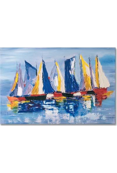 Arte Casero Yelken Yağlı Boya Tablo 60x90 cm