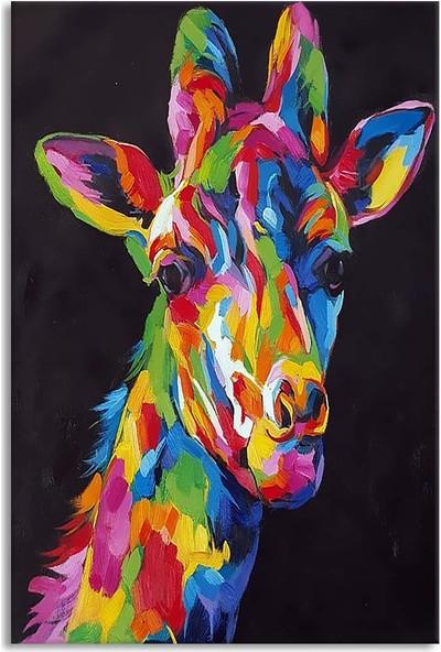 Arte Casero Zürafa Yağlı Boya Tablo 60x90 cm