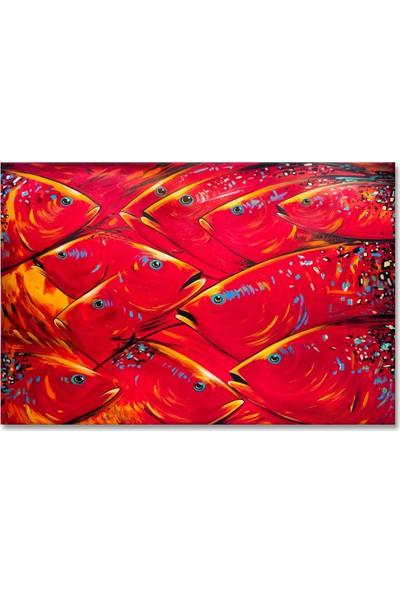 Arte Casero Balık Yağlı Boya Tablo 60x90 cm