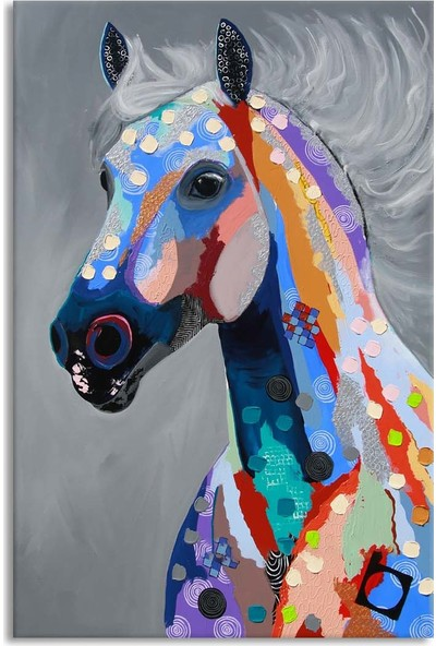 Arte Casero At Yağlı Boya Tablo 60x90 cm