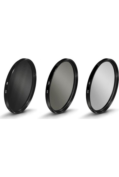 AZT 62mm Lensler için Uv + Cpl Polarize + Nd32 Filtre Seti