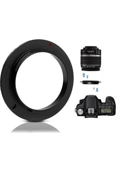 Canon 1200d - 18-55mm Kit Lens için Macro Makro Ters Adaptör - AZT