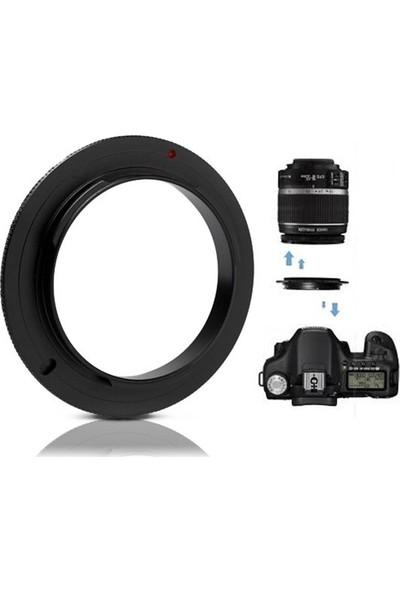 Canon 2000d - 18-55mm Kit Lens için Macro Makro Ters Adaptör - AZT