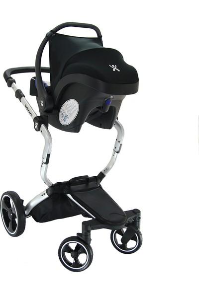 Yoyko Innovation 3in1 Travel Sistem Bebek Arabası Gri Silver Kapitoneli