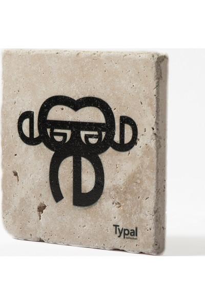 Typal Collection Doğal Taş Bardak Altlığı - Maymun