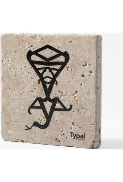 Typal Collection Doğal Taş Bardak Altlığı - Lambanın Cini