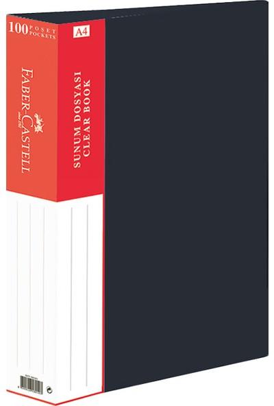 Faber-Castell Standart Sunum Dosyası 100 Yaprak Siyah