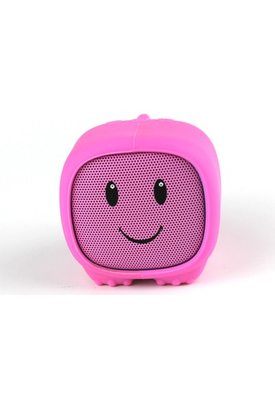 Dino Pembe Bluetooth Hoparlör - Mutlu