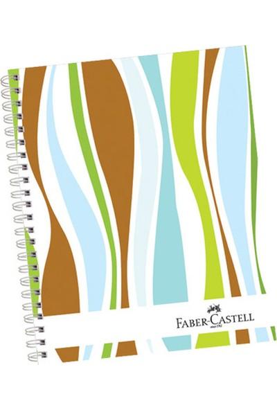 Faber-Castell Sert Kapak Seperatör.3+1 Dalgalar Defter 80gr 120 Yaprak (stok
