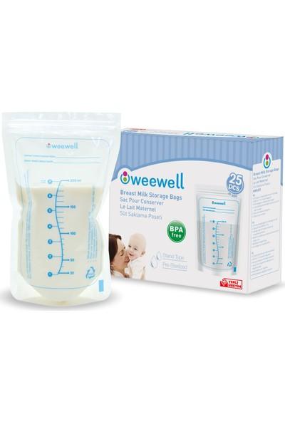 Weewell WMS825 Süt Saklama Poşeti - 25'li