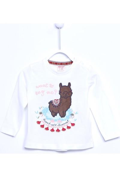 Silversun Bebek Kız Örme Baskılı T-Shirt BK 110429