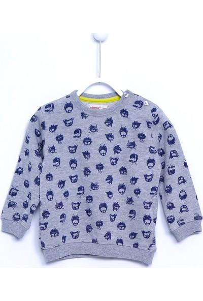 Silversun Bebek Erkek Örme Aplike Nakışlı Sweatshirt JS 110182