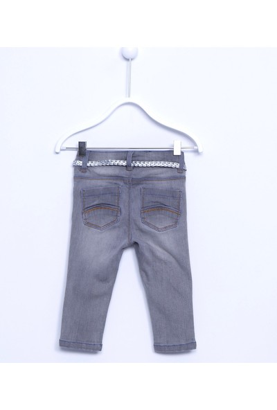 Silversun Bebek Kız Dokuma 5 Cepli Kot Pantolon PC 110396
