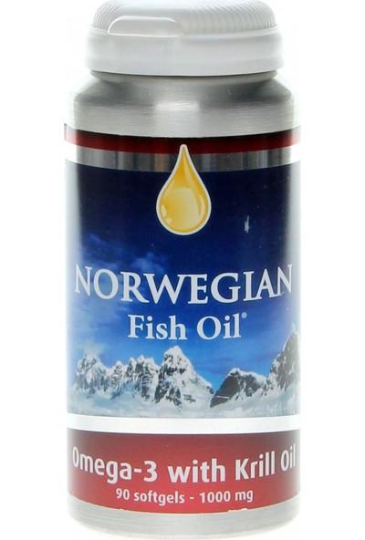 Norwegian Fish Oil Omega 3 & Krill Oil (Krill Yağı) 90 Softjel