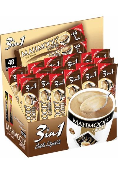 Mahmood Coffee 3ü1 Arada Sütlü Köpüklü 18 gr 48'li